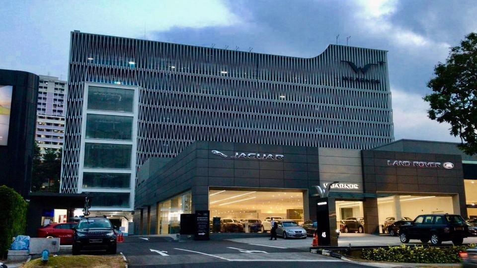 新加坡汽车路虎4S店门窗幕墙工程案例-楼上楼门窗