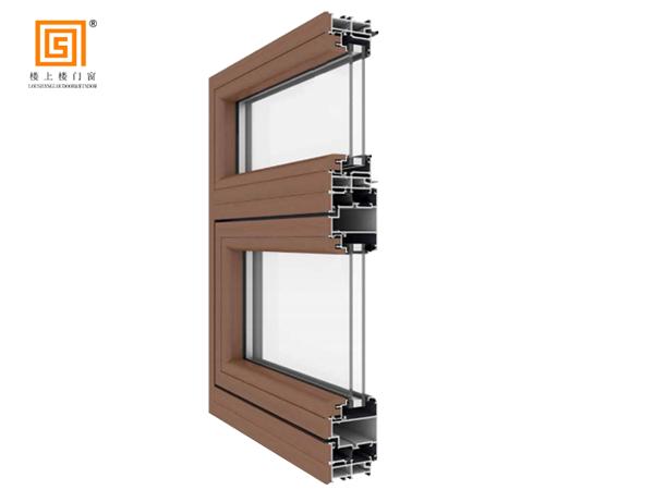 LSL68附框式低碳铝木外开窗
