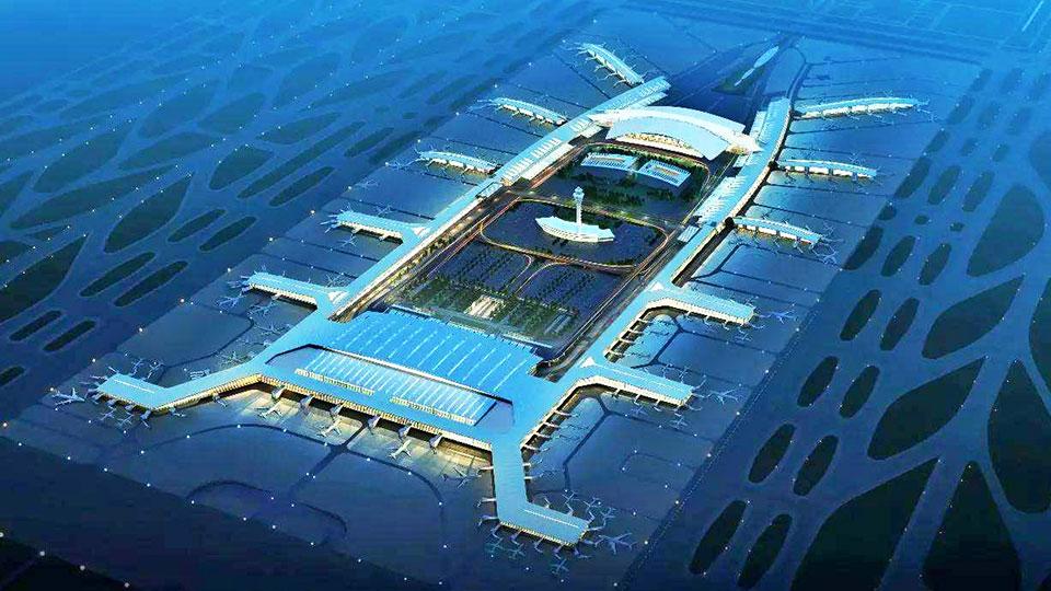 广州新白云机场航站楼门窗工程案例-楼上楼门窗