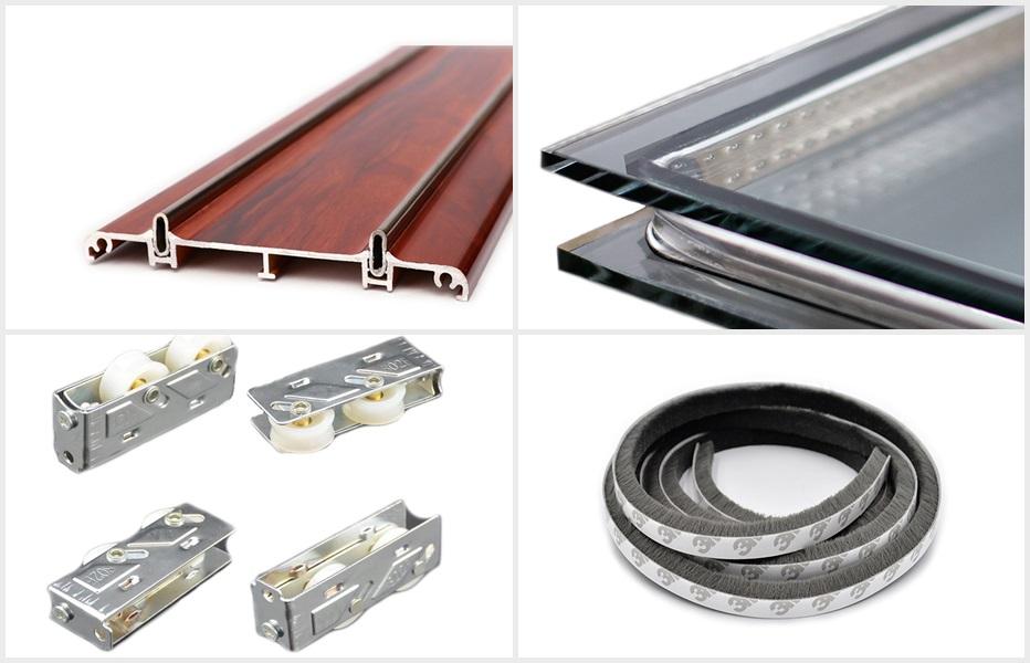 72系列非隔热推拉窗产品产品配件