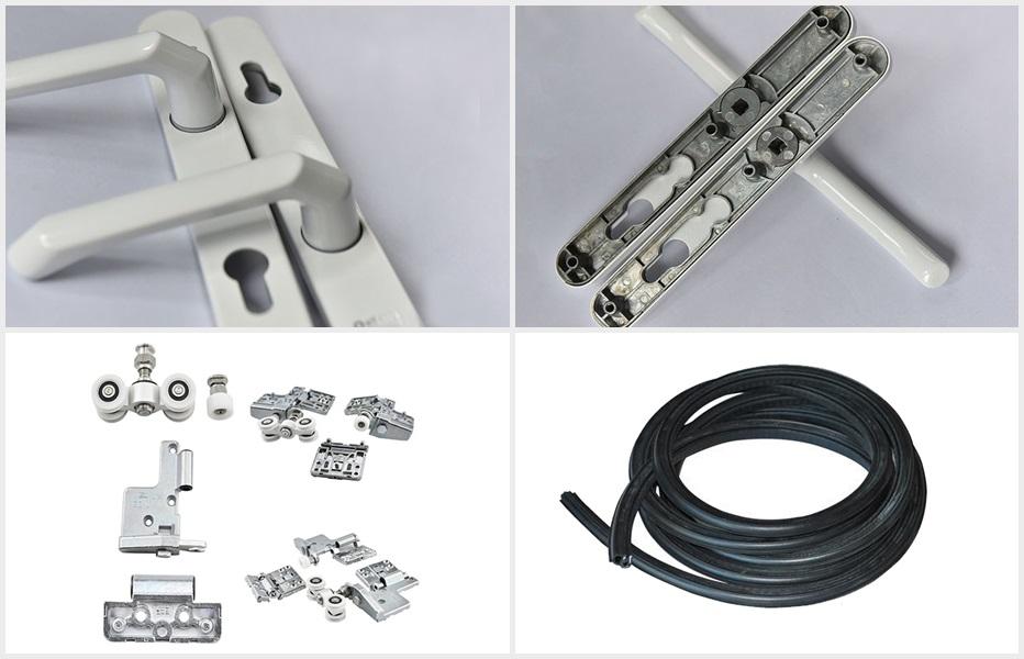 52系列非断桥折叠门产品配件