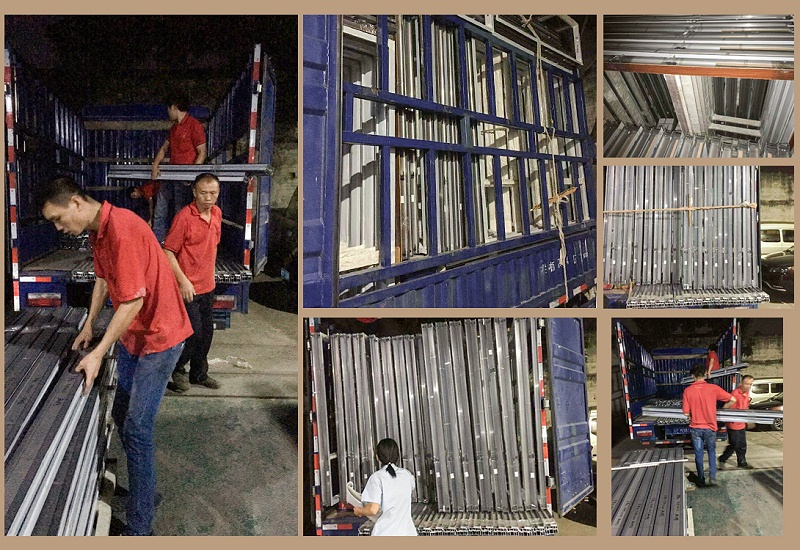 又一批高端楼盘工程铝合金门窗制作完成,员工们又开始装了!