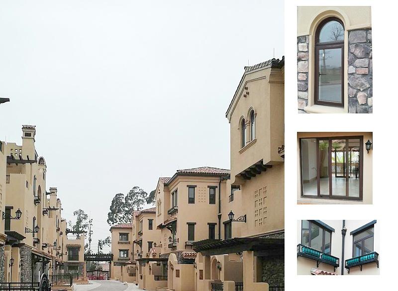 楼上楼门窗-清远美林湖别墅门窗工程